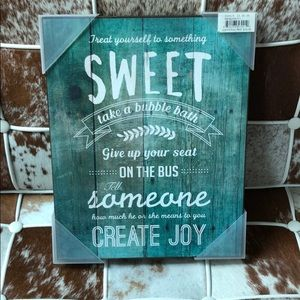 Other - Wooden decorative wall Sign 14 x 11 nwt